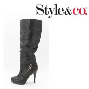 Style and co. Lindie boots in black